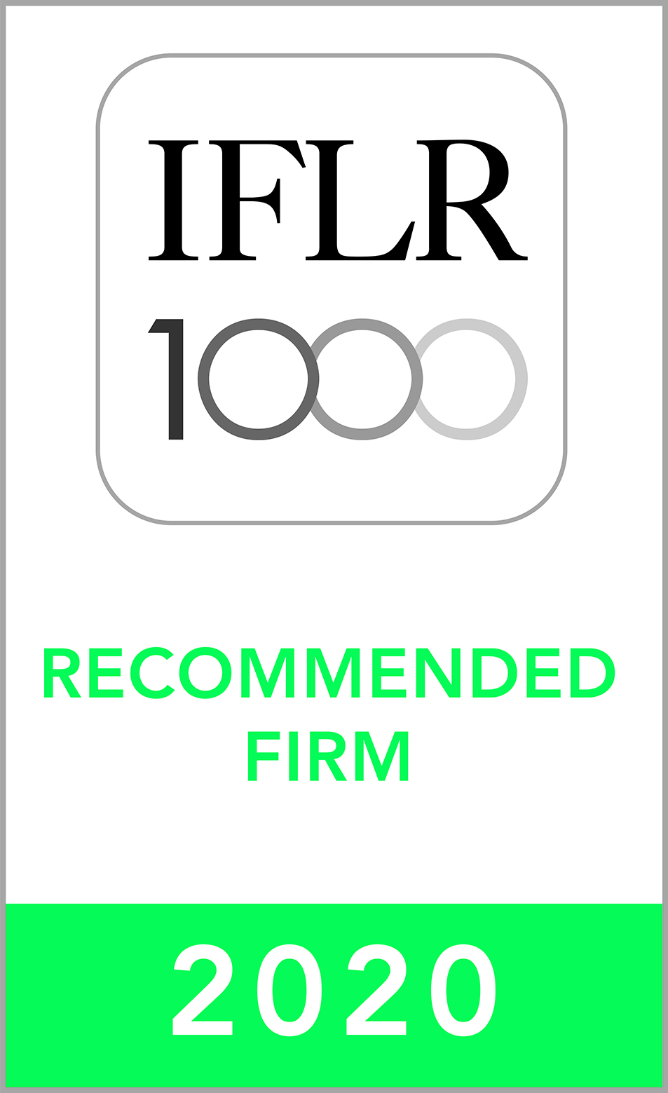 IFLR1000 (2019) Recommended Firm Rosette_2