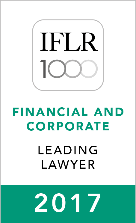IFLR 1000 Leading Lawyer in 2017